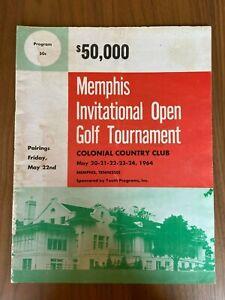 1964 Memphis Invitational Open Golf Tournament Program