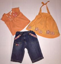 Gymboree/Old Navy Embroidered Capris, Halter Top And Shirt 2T 3T 3 Piece Lot