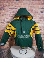 Vintage Green Bay Packers 90s Starter Puffy Hooded NFL Football Jacket Sz Medium