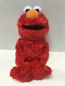 "Sesame Street Love to Hug Elmo 14"" Plush Talking in English or Spanish WORKS"