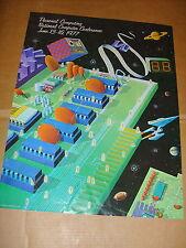 NATIONAL COMPUTER CONFERENCE 1977 DALLAS,TX. RARE POSTER APPLE,ATARI,IBM