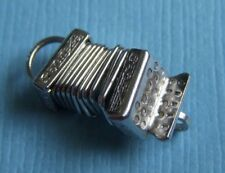 Vintage movable accordion sterling charm
