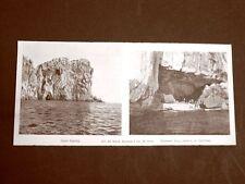 In Sardegna nel 1899 Alghero Capo Caccia e ingresso alla Grotta di Nettuno