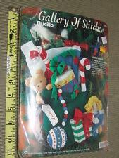 Bucilla Gallery of Stitches Santa's Sack Felt Christmas Kit Embroidered Teddy Do