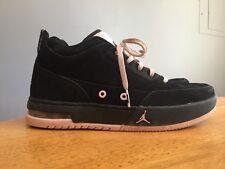 RARE ~ NIKE AIR JORDANS Cross Sole Black Pink Suede Girls Sneaker Shoes Sz 5 Y ~