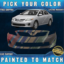 NEW Painted To Match - Front Bumper Cover Fascia 2011-2013 Toyota Corolla Sedan
