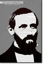 Iconos de matemáticas # 5-Bernhard Riemann-única foto impresión de arte hipótesis