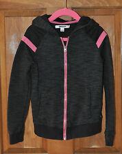 DKNY Girl's Black & Pink Sweatshirt Lightweight Hoodie CUTE Size S (like a 5)