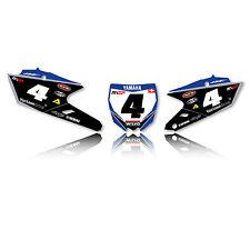 2014-2017 YAMAHA YZF 250 YZF 450 Team Wilvo Motocross Dirt Bike Number Plates