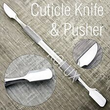 High Grade Stainless Steel Cuticle Knife & Pusher for Finger Nails.Unisex