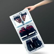 Clear Shoe Box for Shoe Storage Dust-Proof Stackable Flip Drawer Shoes Box