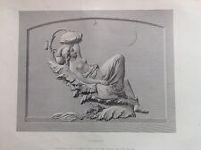 TITANIA fate mitologia bassorilievo  acciaio metà XIX secolo by F.M. MILLER
