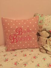 Girl keepsake cushion, unique personalised embroidered cushion pillow, for  baby birth or newborn design