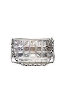 Chanel Chocolate Bar Ice Cube Chain Pochette Shoulder Bag