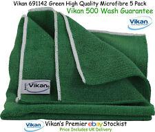 Vikan Microfibre Cloths High Quality Green Microfiber Towels Cleaning Cloth x 5