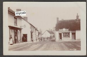 Postcard Williton nr Watchet Somerset village shops posted 1906 RP by Hole
