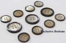 Grey Edge Trocas Genuine Shell Buttons Set For Suit, Blazer, or Sportcoat