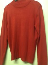 Womans Target Brand Size 12 Red Acrylic Crew Neck Jumper
