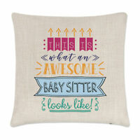 This Is What An Awesome Baby Sitter Looks Like Cushion Cover Pillow Funny Best