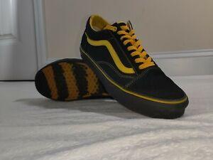 Vans Old Skool Skate Shoe Unisex, Size 10.5 - Black/Yellow