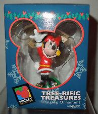 NIB Disney Enesco Minnie Mouse Waving with Earmuffs Ornament