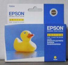 ORIGINALE Epson t0554 INCHIOSTRO YELLOW PER STYLUS PHOTO r240 r245 rx420 rx425 rx520