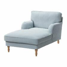 Ikea Stocksund Chaise Longue Cover - Remvallen Blue/White 003.202.66