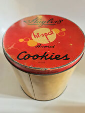 1930s VINTAGE HUYLERS NEW YORK HI SPOT COOKIES TIN ADVERTISING RARE 3lb