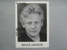 BRUCE  DAVISON    Actor/Director  Signed   5 X 7    B & W  Photo