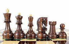 "Rose Wood Zagreb Staunton Wooden Chess Set Pieces King size 4"" with Storage Box"