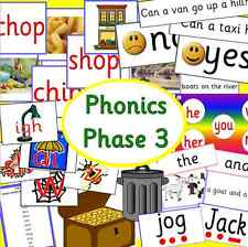 Phonics Phase 3 teaching resource CD - Letters and Sounds- KS1, EYFS, Literacy