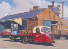 Scammell Scarab British Railways AUTOCARRO CAMION Vuoto Compleanno Biglietto Festa del Papà