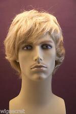Light Golden Blonde Blonde Medium Straight Men Wig
