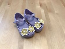 Mini Melissa Toddler Girls Lilac Yellow Flower Mary Jane Shoes Toddler Size 7
