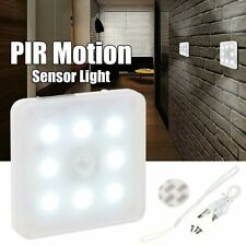 8 LED PIR Motion Sensor Light USB Rechargeable Magnetic Wall Closet Stairs Hall