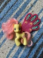 "My Little Pony MLP FiM G4 Glimmer Wings Fluttershy, 3"", Brushable"