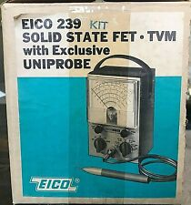 EICO Model 239 SOLID STATE FET * TVM with EXCLUSIVE UNIPROBE KIT * UNBUILT * NEW