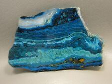 Chrysocolla Malachite 3.75 inch Polished Rock Slab Lapidary Stone Arizona #1