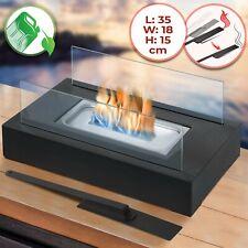 Jago® Tischkamin Edelstahl Bio Ethanol Feuerstelle Glas Gel Tischfeuer Deko