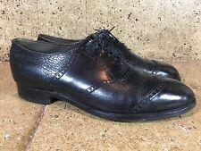 Footjoy Vtg Mens Black Calf Wing Tip Dress Shoe Size 12 D