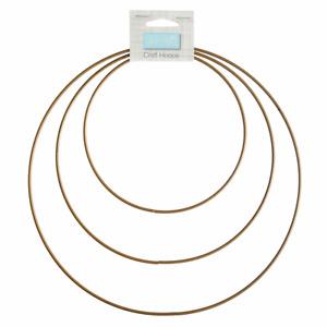 Craft Hoops: Metal: 15-25cm: 3 Sizes: Gold - Dreamcatchers - Macrame - Reef