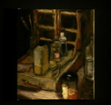 "14x12"" Original Oil on Canvas - Diary Series - The Mess on the Table Easel"