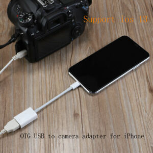 For Apple 8Pin to USB Keyboard For iPhone iPad OTG Camera Adapter Cable