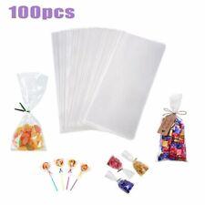 100pcs/pack Transparent Cellophane Bag Clear Opp Plastic Bags For Candy Lollipop