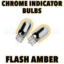 2 x 501 T10 W5W Argento Cromato Ripetitori Laterali AUTO LAMPADINE FLASH BRIGHT AMBER