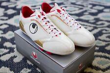 uhlsport Kickschuh JR  Soccer Cleats, Size 4.5, white/gold