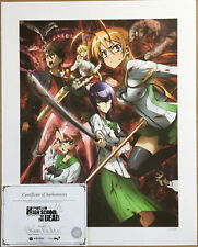New ListingHigh School Of The Dead Lithograph (number 24 of 250 printed)