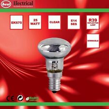 Lava Lamp Appliance Reflector Lamp 25w SES R39 Screw in Light Bulbs (pack of 5)