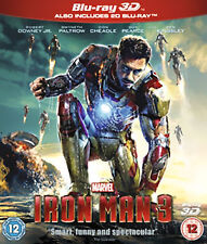 Marvel Iron Man 3 (3D Blu-ray, 2013, 2-Disc Set, Box Set)