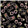 Loralie Sunglasses Flowers Beach Black Cotton Fabric Flamingo Fancy By The Yard